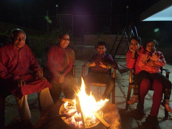 Exotic Home Stay - Panchgani : Bonfire on a winter night!