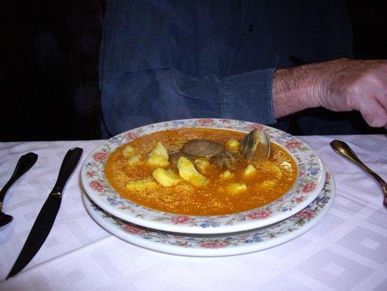 Hosteria Del Laurel: Alan's magnificent fish soup!