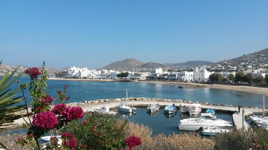 Paros in autumn.The location of meltemi cafe!