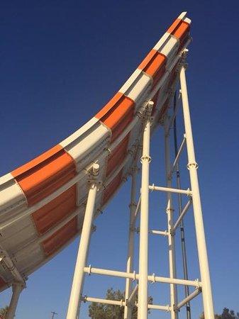 Laura Beach Hotel: the big bad orange and white slide