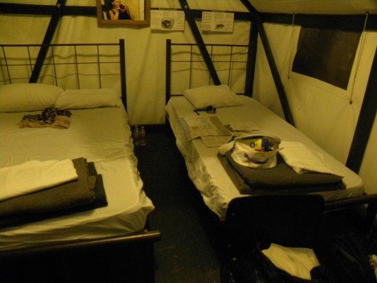Half Dome Village non heated tent & non heated tent - Picture of Half Dome Village Yosemite National ...
