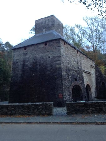 Machynlleth, UK: The furnace from the road