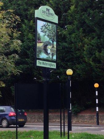 Wateringbury, UK: Welcome sign