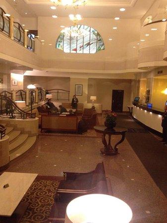 Moscow Marriott Tverskaya Hotel : The reception area