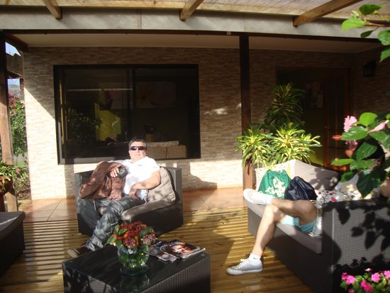 Hotel Tiare Pacific: Terraza