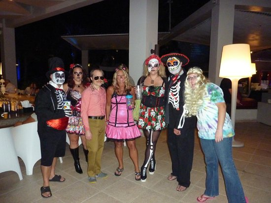 Cancun Halloween 2020 Parties Costumed guests at Halloween party   Picture of Secrets