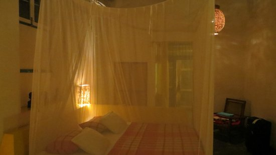 Casa do Gabriel: room 1 at night with mosquito net