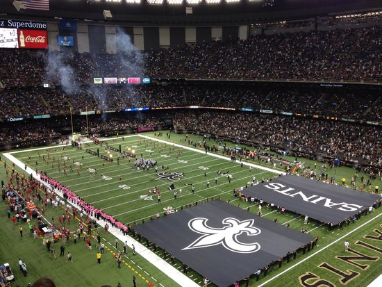 Great view of the field picture of mercedes benz for Hotels near mercedes benz stadium new orleans