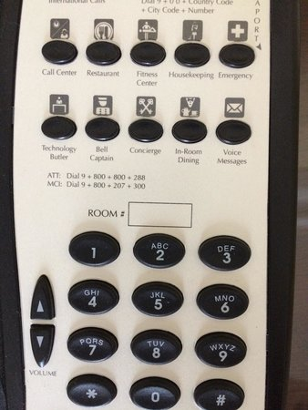 The Ritz-Carlton, Santiago: No room number on phone