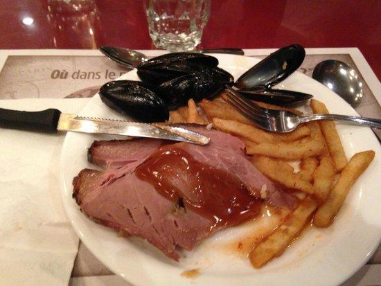 Buffet des Continents : mon assiette bien garnie miam !!!
