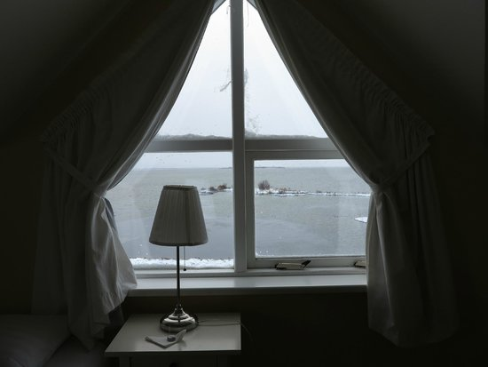 Hotel Reykjahlid: view of lake myvatn from our room