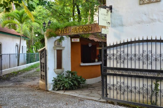 entrance to Hotel Alegria