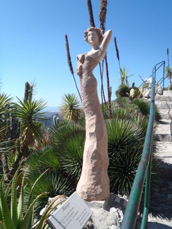 One of the alluring statues - Picture of Le Jardin exotique d\'Eze ...