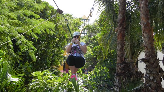 Zip Line Fun Picture Of Chankanaab Beach Adventure Park