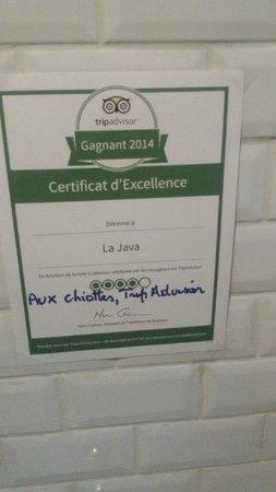 Le Java : dans toilettes du Java