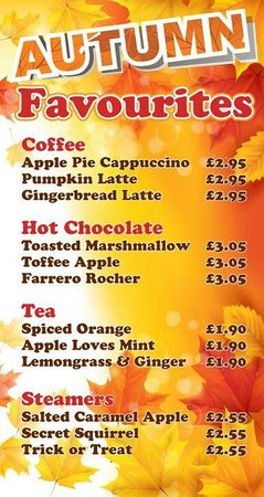 CoffeECO: Come warm up! New Autumn drinks specials.