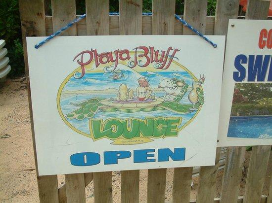 Playa Bluff : FOOD ON SITE