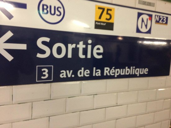 Crowne Plaza Paris Republique : Take this metro exit from the republique stop.