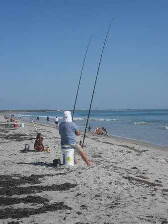 Canaveral Towers Condominiums: quiet cocoa beach with a few fishermen