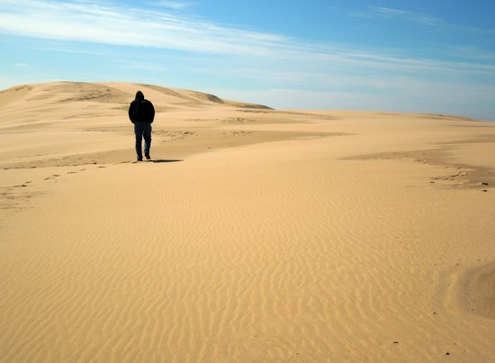 Silver Lake Sand Dunes: Walking the Dunes