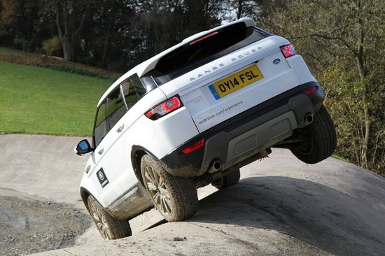Land Rover Experience Eastnor: Evoque showing its capabilities