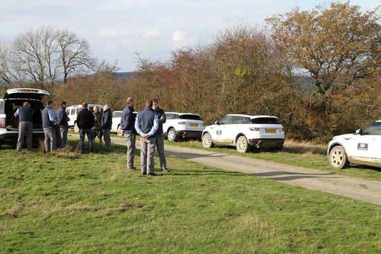 Land Rover Experience Eastnor: Refreshments break