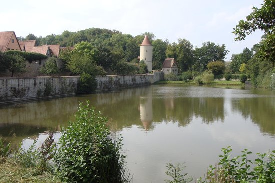 Deutsches Haus: Old town wall and moat