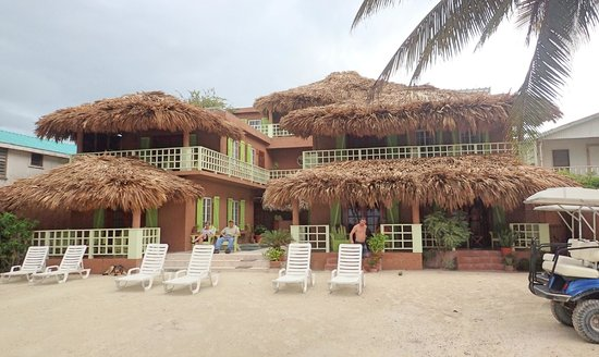 Caye Casa! Our room was on the far right