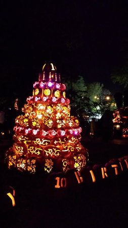 "The Great Jack-O-Lantern Blaze: It's their 10th year. This was their ""birthday cake""."