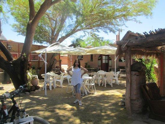 Hostal Puritama: Patio donde se puede compartir con otros huéspedes