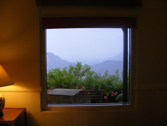 Echoes Boutique Hotel & Restaurant: view from bed