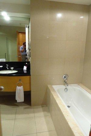 Bath tub and sink - Picture of Crowne Plaza Manila Galleria, Quezon ...