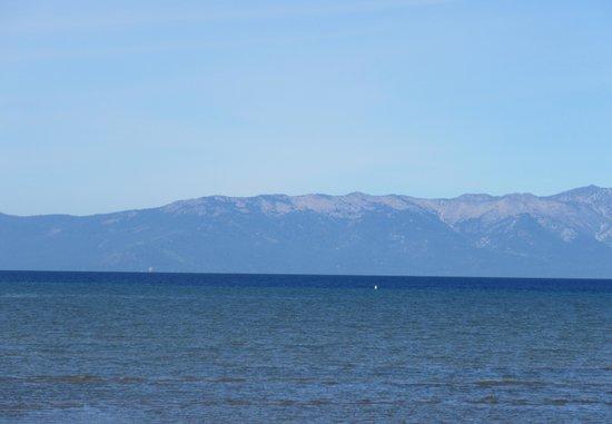 View of Lake Tahoe from Thomas F. Regan Memorial Park, South Lake Tahoe, Ca