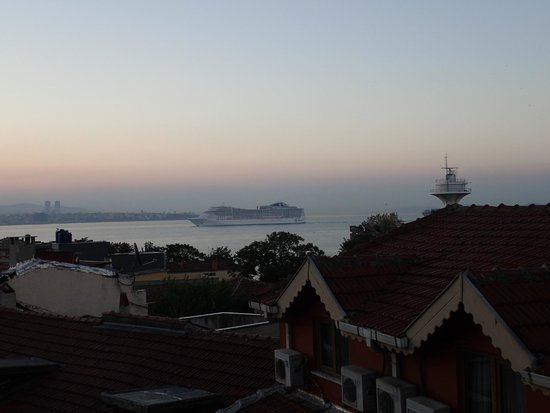 Berce Hotel: View from the rooftop terrace.