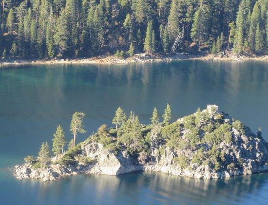 Inspiration Point Vista: Tannette Island, Emerald Bay, Lake Tahoe, Tahoe City, Ca