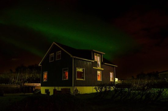 Northern lights above the Blue House