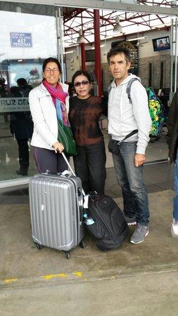 Casa Yolanda: Yolanda che ci accompagna alla partenza