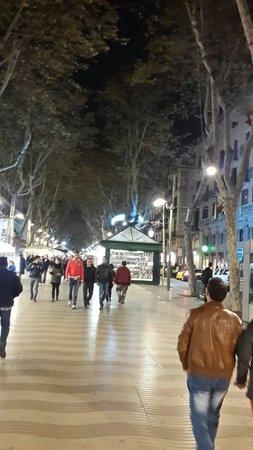 La Rambla 31: The walking path