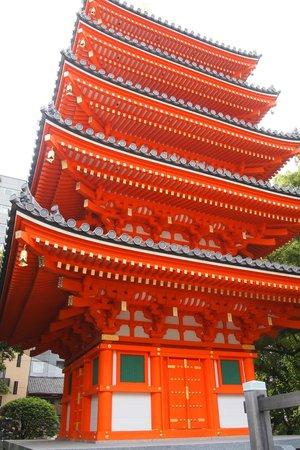 Tochoji Temple : 五重塔。新しくできたばかりのようで、綺麗でした。