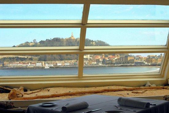 Orbita anillo padre  Vistas desde nuestro restaurante - Picture of La Perla, San Sebastian -  Donostia - Tripadvisor