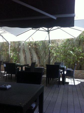 Rysara Hotel: Le patio du restaurant