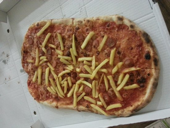 Horno de Oro: Chips pizza!