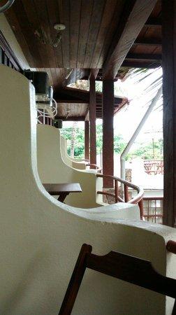 Hotel Brunello : Balcões do segundo andar