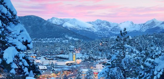 Winter in the Village of Estes Park