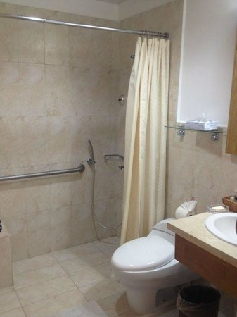 Hotel Weare Bayahibe: handicap bathroom shower - i guess