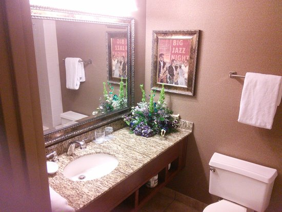 Radisson Hotel Rochester Riverside: Beautiful bathroom - good lighting too