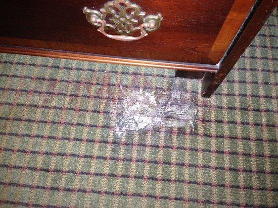 Ramada Cordele: burn mark on carpet