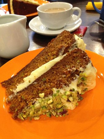 T H Roberts Coffee Shop: Gluten free, pistachio, carrot and orange cake!