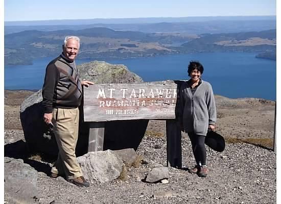 Mt. Tarawera: On top of Mt Tarawera