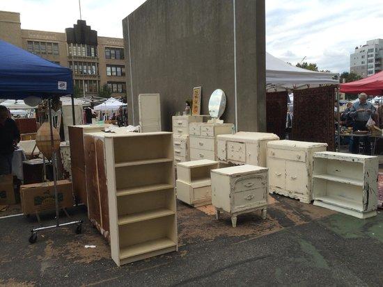 Brooklyn Flea Market Williamsburg Lots Of White Furniture